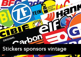 Autocollants vintage sponsors