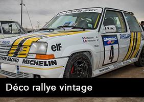 Kit déco rallye vintage